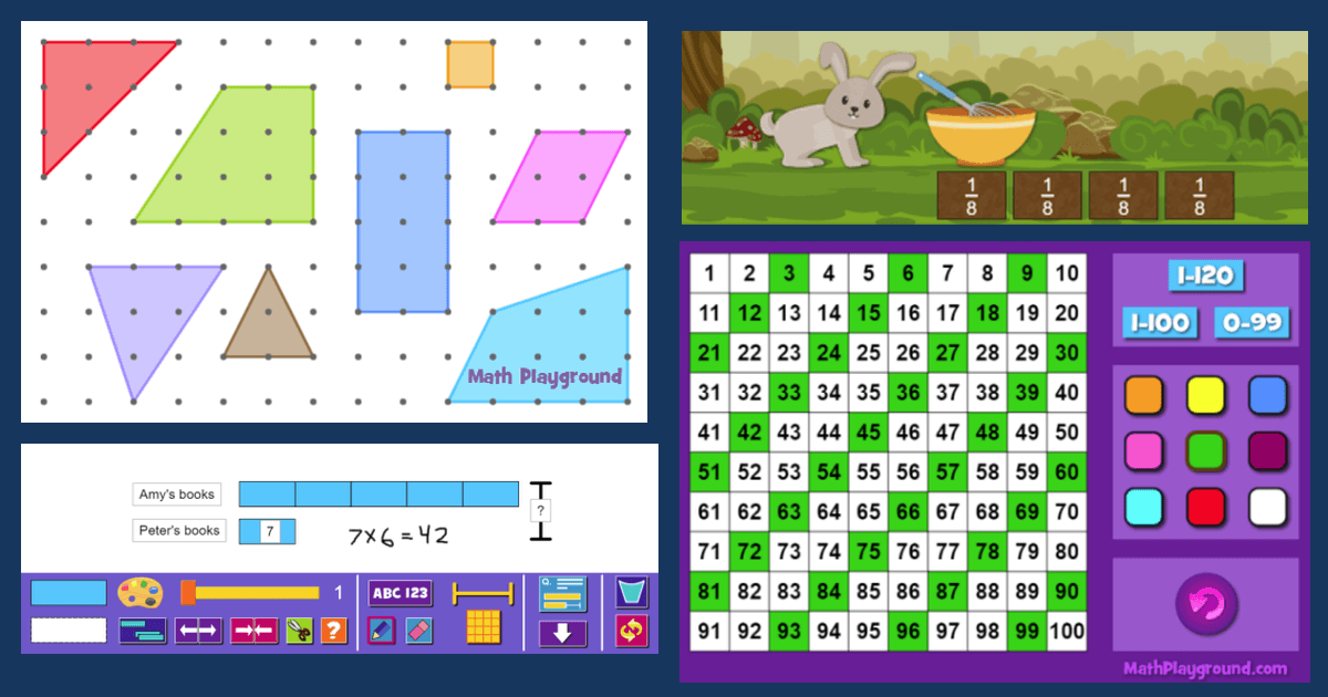 Math Playground Has An Extensive Li Ry Of Math Games But Did You Know That We Also Offer A Wide Variety Of Visual Math Resources